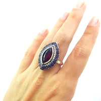 925 STERLING SILVER SIZE 8 RUBY RING TURKISH HANDMADE JEWELRY 1307 - Turkishsilverjewelry