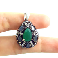 Turkish Ladies Pendant Necklace Popular Trend Jewelry 925 Sterling Silver 2892 - Turkishsilverjewelry