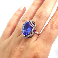 Turkish Ladies Rings Antique Handmade Jewelry Manufacturer 925 Silver 1488