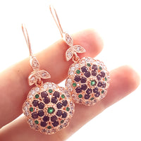 Rose Gold Authentic Jewelry 925 Sterling Silver Victorian Ladies Earrings E2496