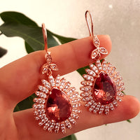 Rose Gold Sultanate Jewelry 925 Sterling Silver Victorian Ladies Earrings E2784