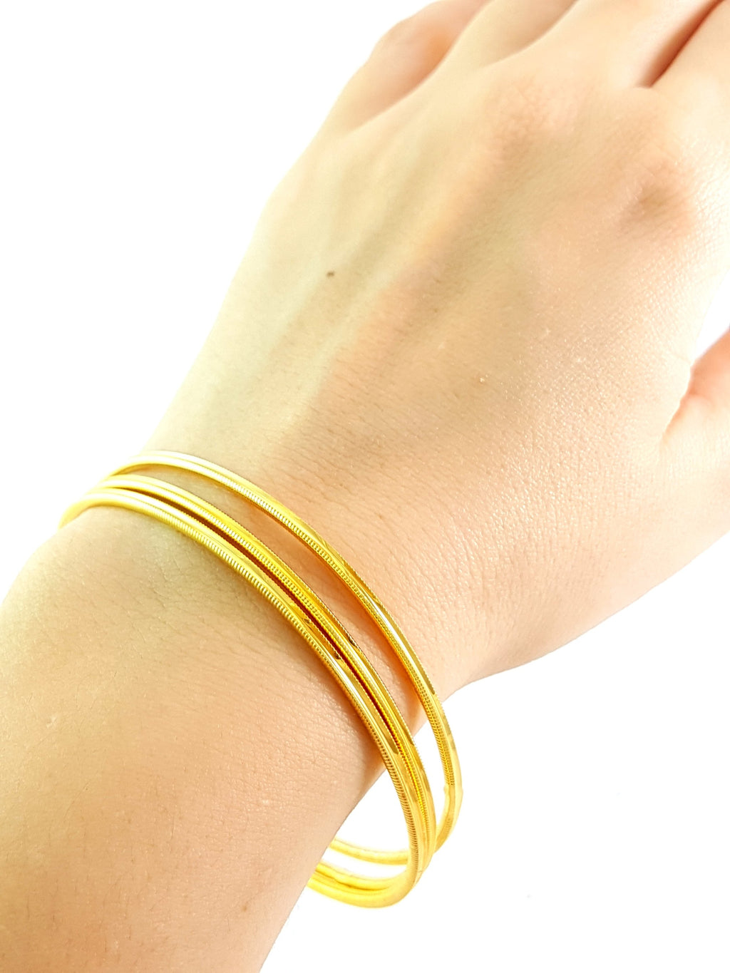 22k Gold Plated Stackable Burma Twisted Bilezik Bangle Turkish Jewelry Dubai Turkish Wholesale Handmade 925 Sterling Silver Jewelry - Turkishsilverjewelry