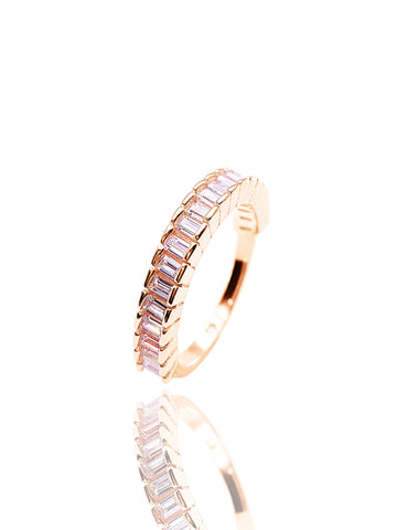 New Turkish Wholesale Handmade 925 Sterling Silver Jewelry Ring European Stackable Eternity Baguette Band For Women Jewelry - Turkishsilverjewelry