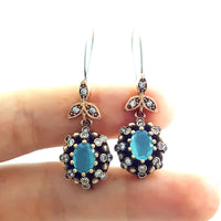 Turkish Fashion Jewelry 925 Sterling Silver Ladies Earrings Wholesale E2726 - Turkishsilverjewelry