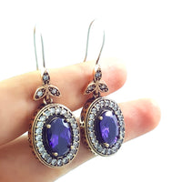Turkish Ottoman Ladies Jewellery Hurrem Sultan Earrings Drop Dangle E2715 - Turkishsilverjewelry