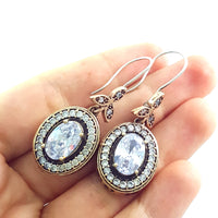 Ottoman Jewellery Handmade Hurrem 925 Sterling Silver Ladies Earrings E2712 - Turkishsilverjewelry