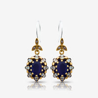 Turkish Fashion Jewelry 925 Sterling Silver Ladies Earrings Wholesale E2708