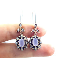 Cardi B Jewelry 925 Sterling Silver Ladies Earrings Hurrem Sultan E2735 - Turkishsilverjewelry