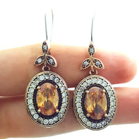Turkish Ottoman Ladies Jewellery Hurrem Sultan Earrings Drop Dangle E2713 - Turkishsilverjewelry