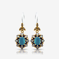 Turkish Fashion Jewelry 925 Sterling Silver Ladies Earrings Wholesale E2726