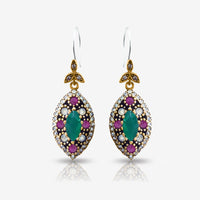 Fine Fashion Jewelry 925 Sterling Silver Ladies Earrings Hurrem Sultan E2742