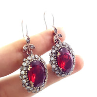 Turkish Silver Jewelry Rich Earrings Handmade Hurrem Sultan Styles 1696