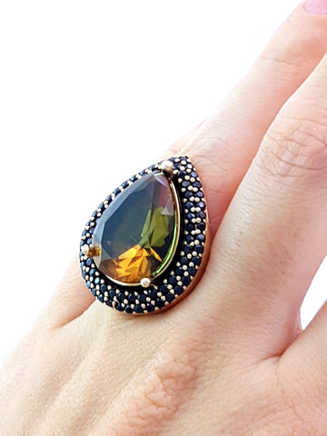 Sultan! Turkish Wholesale Handmade 925 Sterling Silver Jewelry Ring Size 8 R1153 - Turkishsilverjewelry