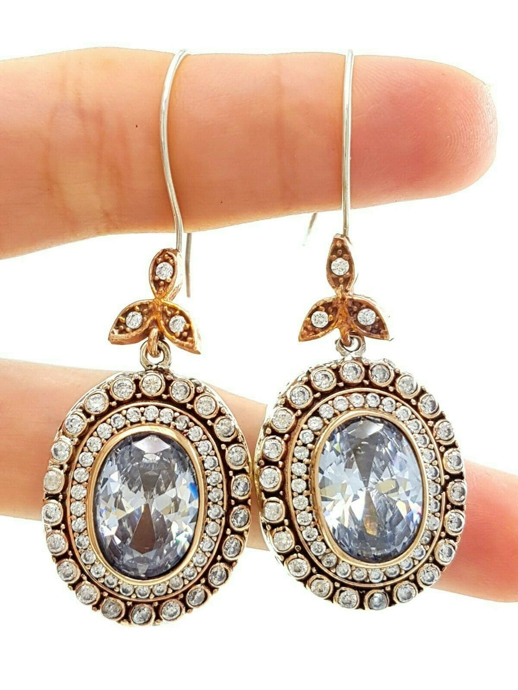 Authentic Turkish Wholesale Handmade 925 Sterling Silver Jewelry Earrings BN Gift VK03 - Turkishsilverjewelry