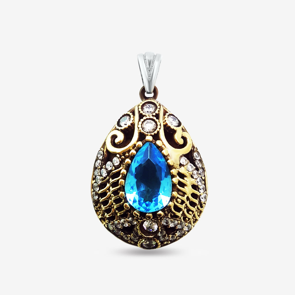 Turkish Wholesale Handcrafted 925 Sterling Silver Jewelry ANTIQUE necklace Charm 1290 - Turkishsilverjewelry