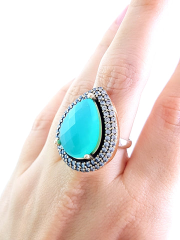 Ottoman Turkish Wholesale Handmade 925 Sterling Silver Jewelry Ring Size 8 Ladies R1169 - Turkishsilverjewelry