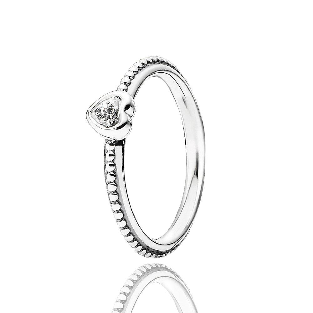 Turkish Wholesale Handmade 925 Sterling Silver Jewelry Delicate Solitaire Heart Ring Wedding Bridal Jewelry - Turkishsilverjewelry