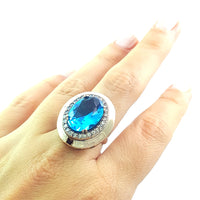 925 Sterling Silver Handmade Gemstone Turkish Jewelry Ladies Ring Authentic 2875 - Turkishsilverjewelry
