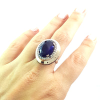 925 Sterling Silver Handmade Authentic Turkish Ladies Ring Size 9 2875 - Turkishsilverjewelry