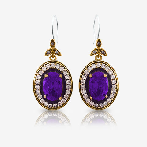 Turkish Ottoman Ladies Jewellery Hurrem Sultan Earrings Drop Dangle E2715