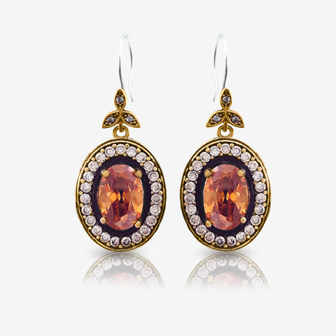 Turkish Ottoman Ladies Jewellery Hurrem Sultan Earrings Drop Dangle E2713