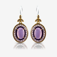 Turkish Ottoman Ladies Jewelry Hurrem Sultan Earrings Milky Pink E2719