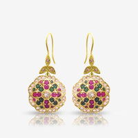 Authentic Turkish Handmade Jewelry 925 Sterling Silver Victorian Earrings E2503