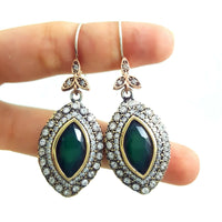 Wholesale Turkish Jewelry Handmade 925 Sterling Silver Earrings Hurrem Sultan BN Gift 2970 - Turkishsilverjewelry