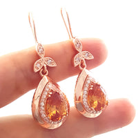 Turkish Jewelry Handmade 925 Sterling Silver Earrings Hurrem Sultan Rose Gold 2504