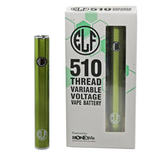 Load image into Gallery viewer, HoneyStick Elf Stick Vape Pen Battery w/ Packaging - Green-Metallic Color