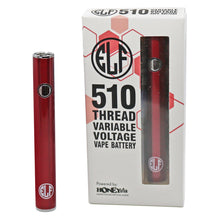 Load image into Gallery viewer, HoneyStick Elf Stick Vape Pen Battery w/ Packaging - Red Color