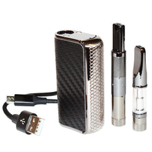 Load image into Gallery viewer, HoneyStick Phantom Kit: wax atomizer on long magnet adapter, oil vape cartridge on short magnet adapter and USB charging cable