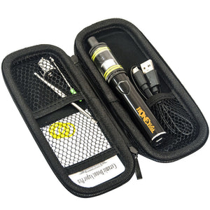 Cannabis Cup Wax Pen Kit. Stinger 2200 mAh dab pen battery, Highbrid vape tank for dab, extra wax atomizer, dab tool in hard zipper box