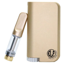 Load image into Gallery viewer, HoneyStick Elf Twist Vape Mod in Gold and Matching 510 thread cartridge