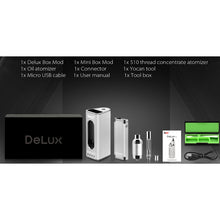 Load image into Gallery viewer, DeLux Vaporizer Kit explanation