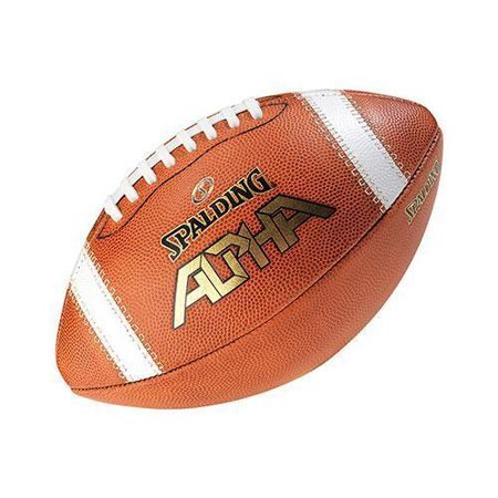 Spalding Alpha Leather Football (NFHS)