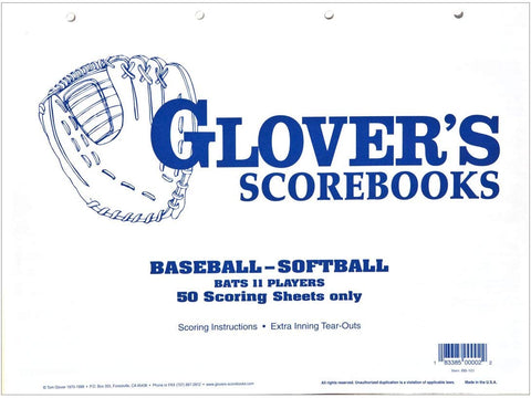 Glover 50 Game Refill Sheets (w/o Stats)
