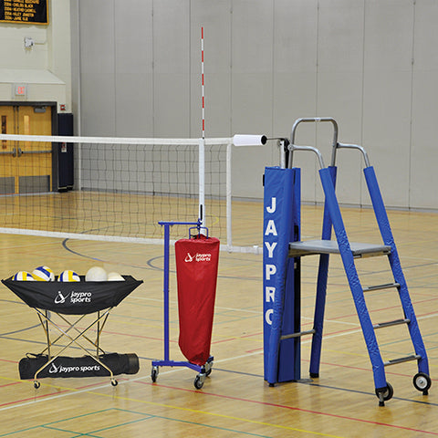 Jaypro PowerLite Volleyball System Package
