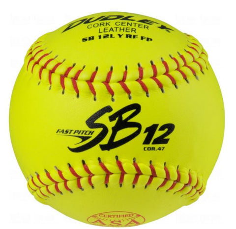 Dudley 4AO69Y ASA Slow Pitch Softballs