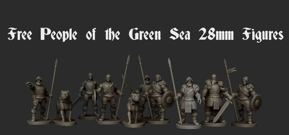 IWA5001 Free People of the Green Sea 28mm Figure's x 8