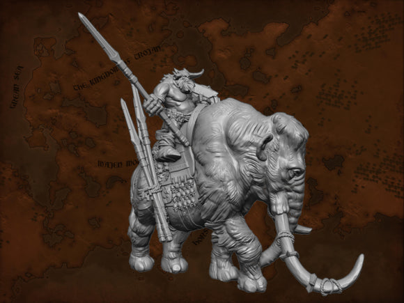 IWA5010 Resin Mammoth with Saddle and Rider download