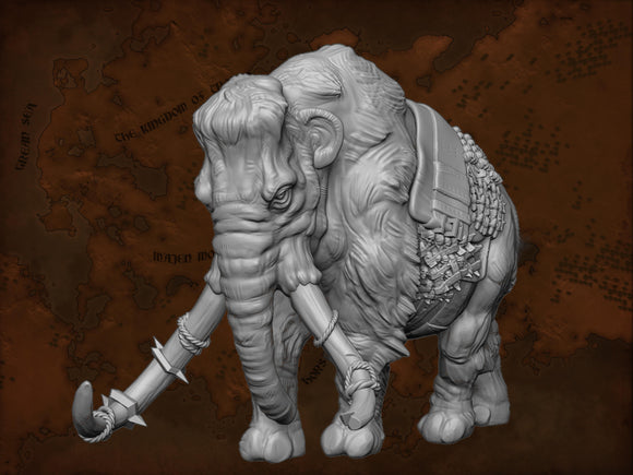 IWA1002 Resin Mammoth with Saddle
