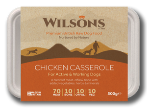 Chicken Casserole Premium Raw Frozen Dog Food