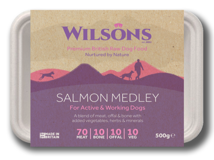 Salmon Medley Premium Raw Frozen Dog Food