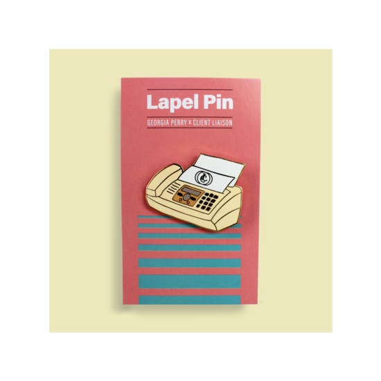 Fax Machine Lapel Pin