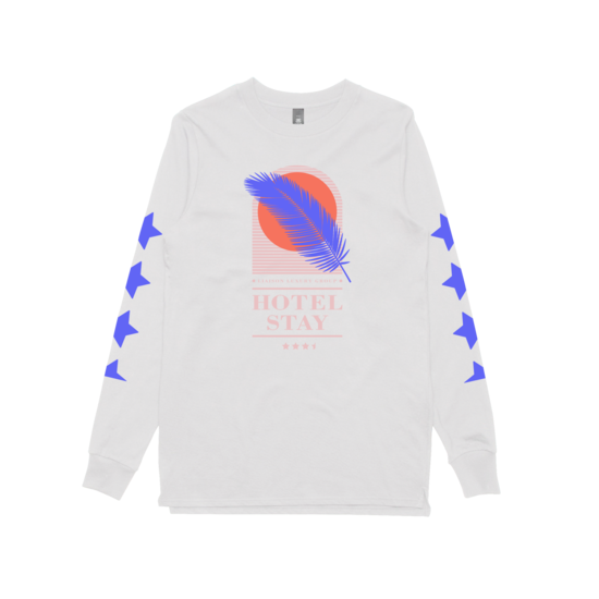 Hotel Stay (White) Longsleeve