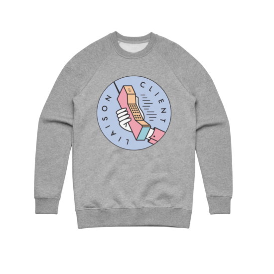 Phone (Grey) Crewneck Sweater
