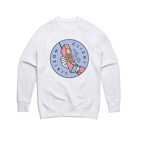 Phone (White) Crewneck Sweater