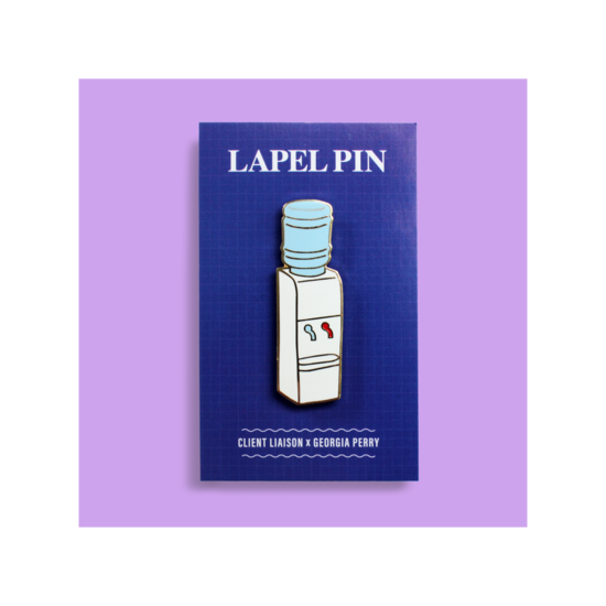 Water Cooler Lapel Pin