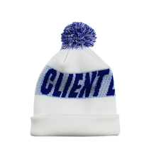 Load image into Gallery viewer, Pom Pom Beanie (Blue/White)